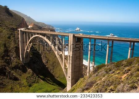 Bixby Bridge, Big Sur - California USA - stock photo