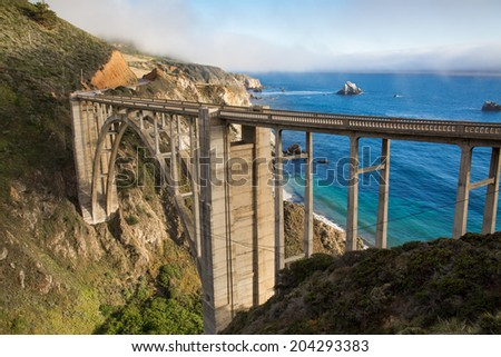 Bixby Bridge, California - stock photo