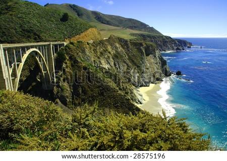 Bixby Bridge Hwy. 1 California - stock photo