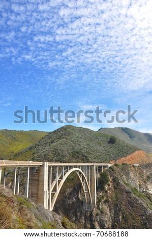 Bixby Bridge on Highway One - stock photo