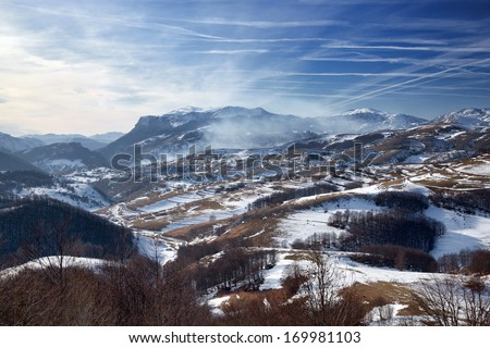 Bjelasnica, mountain near Sarajevo, Bosnia and Herzegovina - stock photo