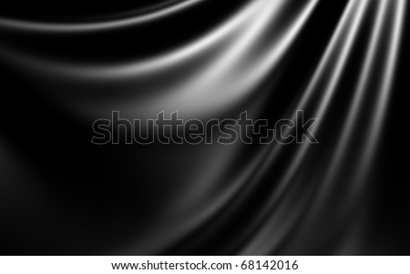 Black Abstract Cloth - stock photo