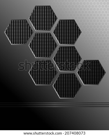 Black abstract mate background - stock photo