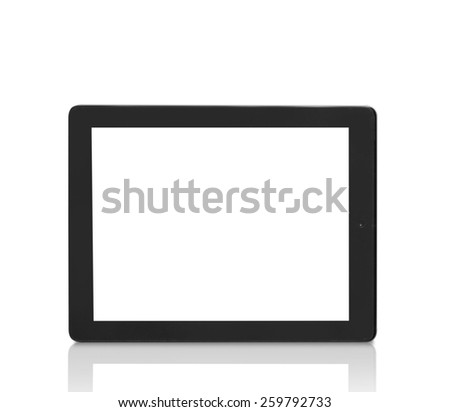 Black abstract tablet computer (pc) - stock photo