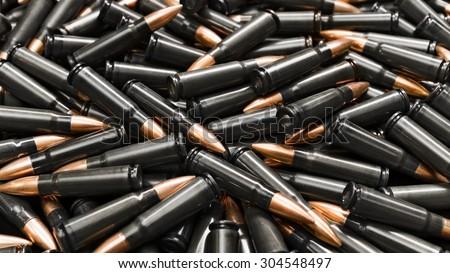 Black ammo - stock photo