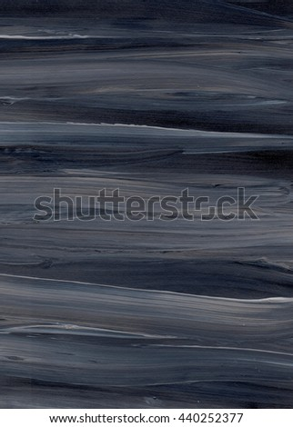 Black and grey hand drawn acrylic background, raster illustration. Grunge paper. Dynamic paint brush textures. - stock photo