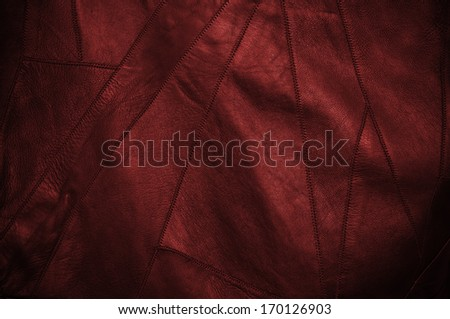 Black and red leather background - stock photo