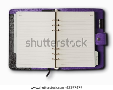 Black and red leather cover of binder notebook - stock photo