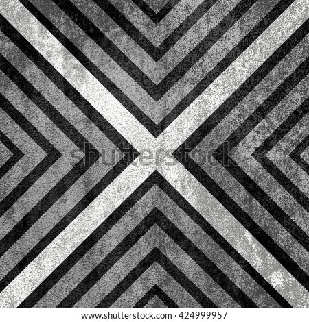 Black and White abstract old background texture with X pattern. - stock photo