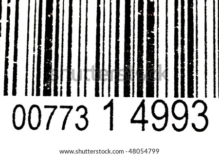 Black And White Bar Code With Numbers(FIGURES AND LINES TO CHANGE) - stock photo