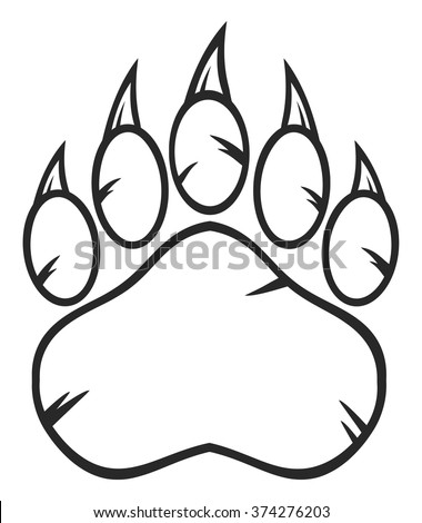 bear footprints template - bear paw stock photos images pictures shutterstock