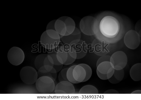 Black and white blurry bokeh background form natural - stock photo