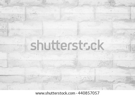 Black and white brick wall texture background / Wall texture background flooring interior rock stone old pattern clean concrete grid uneven bricks design stack. - stock photo