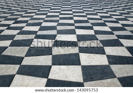 Black and white ceramics on the Place Massena in the city of Nice, France - stock photo