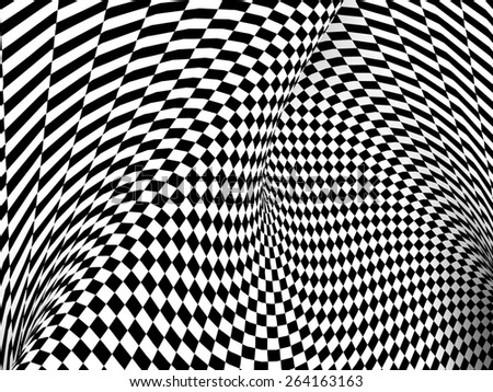 Black And White Checker Texture Background. 3d Render Illustration - stock photo