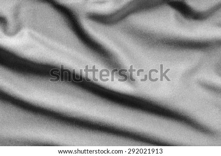 Black and White Crumpled Soft Fabric Texture Background Surface - stock photo