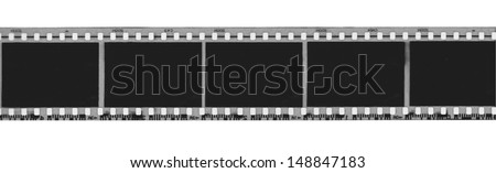 Black and white film strip - stock photo