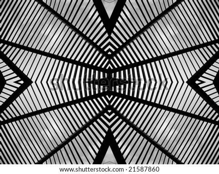 black and white geometrical lines texture - stock photo