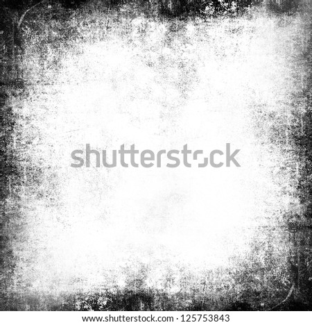 Black and white grunge background - stock photo