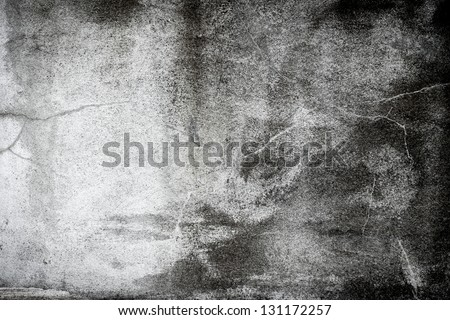 Black and white grunge background wall dirty texture - stock photo
