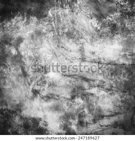 Black and white grunge  scratch texture background - stock photo