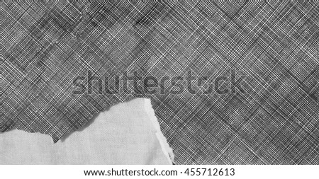 black and white lack line paper pattern - stock photo