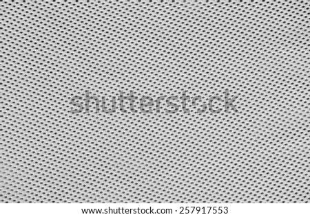 Black and white mesh fabric - stock photo