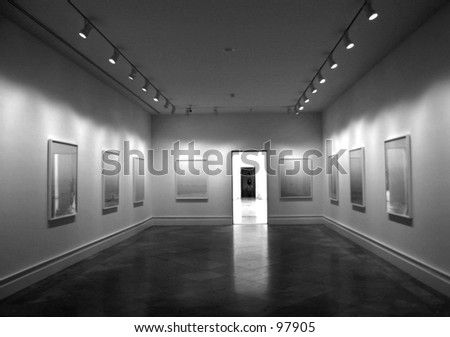 Black and White Museum - stock photo