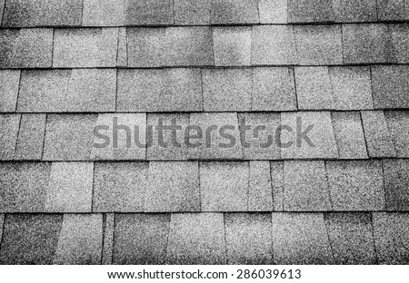 Black and white photo,close up roof tile texture background - stock photo