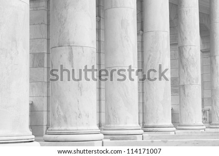 Black and White Pillars - stock photo