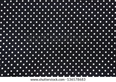 black and white polka dot background - stock photo