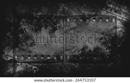 black and white retro Grunge 35mm Film background texture - stock photo