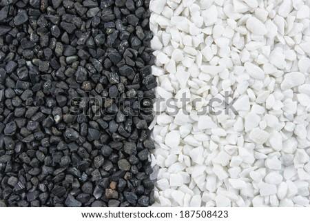 Black and white rock, stones texture background - stock photo