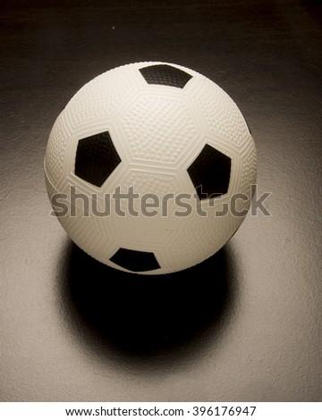 Black and white soccer ball/Soccer Ball/Soccer ball uses a football - stock photo