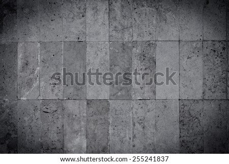 Black and white stone wall and floor texture background - stock photo