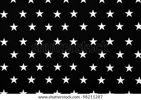 Black and white texture with five-pointed stars - stock photo