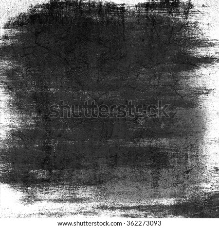 black and white wall paper texture grunge background old brush strokes watercolor painting - stock photo