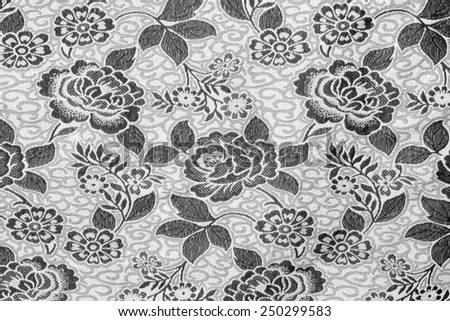 Black and white wallpaper background. - stock photo
