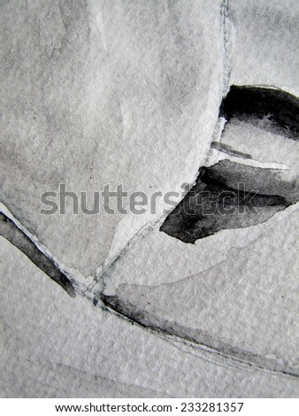 Black and white Watercolor Background 11 - stock photo