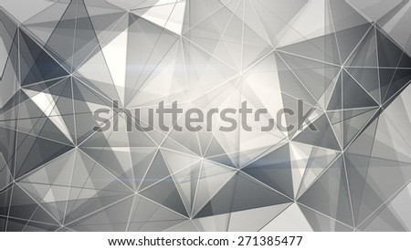black and white web. computer generated abstract geometrical background - stock photo