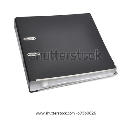 Black archive business folder. Isolated on white background - stock photo