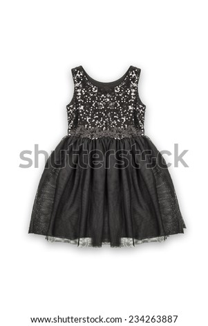 black baby dress  on a white background  - stock photo