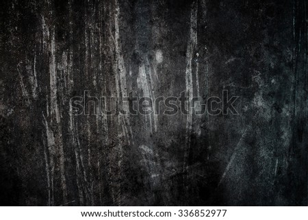 Black background cement dirty - stock photo