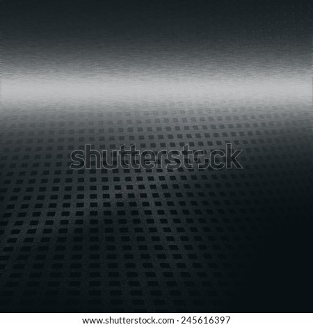black background chrome metal texture grid pattern for modern science or business advertising design - stock photo