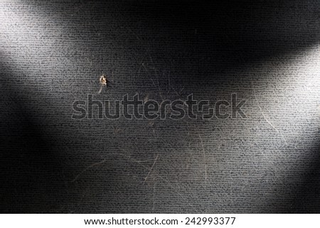 Black background illuminated from the left and right corner spotlight and vintage grunge background texture, black and white background for printing monochrome brochure, web ad, elegant dark gradient - stock photo