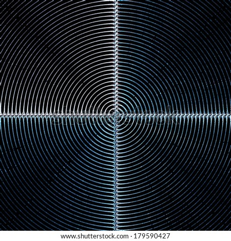 black background shield concentric circle lines pattern texture - stock photo