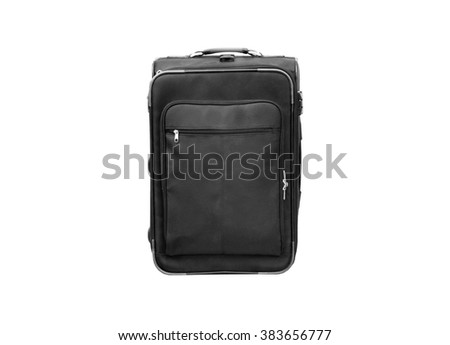 Black baggage (isolated and have clipping path) - stock photo