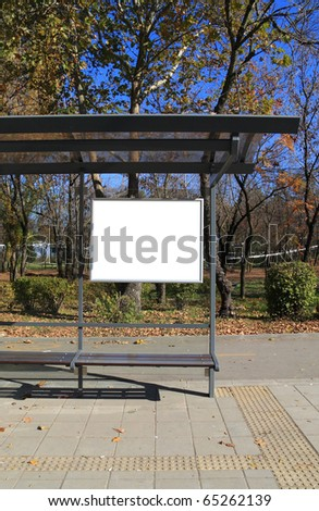 Black banner. This is for advertisers to place ad copy samples on a bus shelter. - stock photo