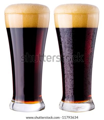 Black beer - stock photo