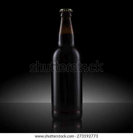 Black Beer Bottle - stock photo